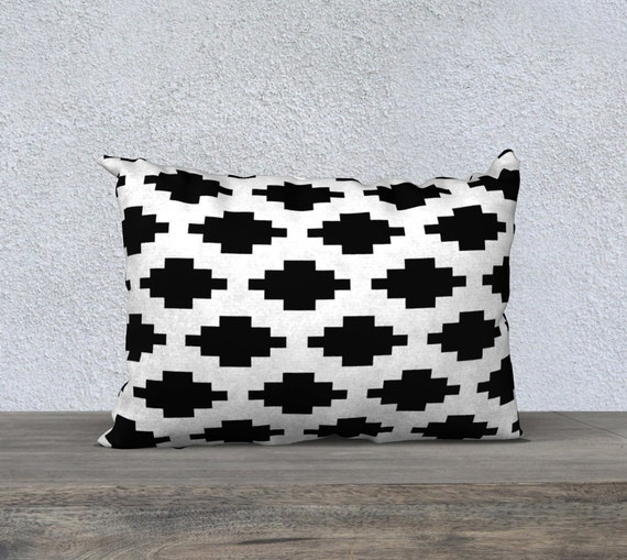 Southwestern Throw Pillow Covers : Southwestern Pillow Cover Black and White Decor Throw