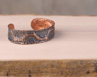 Copper Rustic Cuff Bracelet 2
