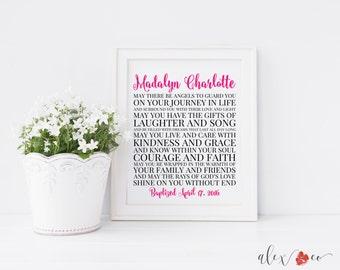 Baptism Gift. Baby Dedication Gift. Baby Christening Gifts. Baptism Art. Baptism Sign. Baptism Print. Baptism Printable. Baptism Gift Girl.