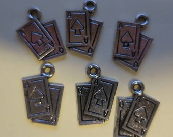 5 charm Set of Playing Cards! Great for Poker or Bridge Gambling or just for fun!FREE SHIPPING!