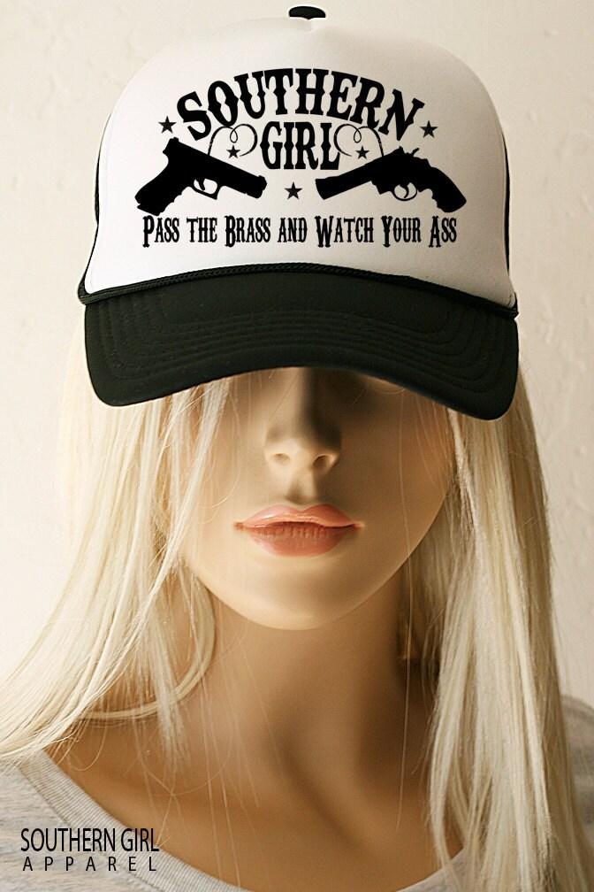 Women S Shooting Hats Southern Girl Pistol Trucker Hat