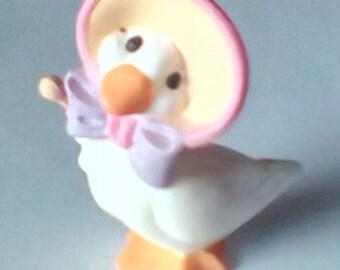 SALE 20% reduction Vintage Hallmark mini Goose, Easter or Spring decoration, Knick Knack, Mini Knick Knack, Easter, Spring Decor