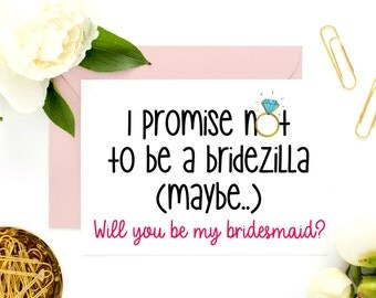 Funny Maid of Honor, Bridesmaid Card, Bridesmaid Proposal, Funny Asking Card, Be my bridesmaid, Funny Bridesmaid