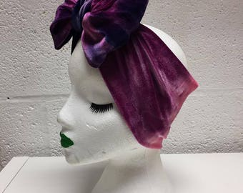 Purple Ombre Turban Bow Headband