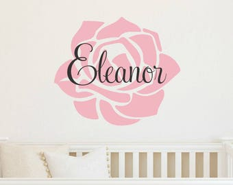 Baby Girl Wall Decal Etsy - Wall decals girl nursery