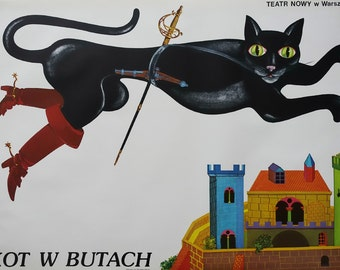 1982 Puss in Boots - Original Vintage Poster