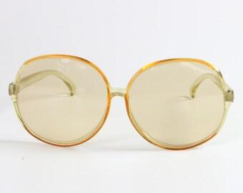Ladies Oversized Large Sunglasses, Yellow / Retro Fashion