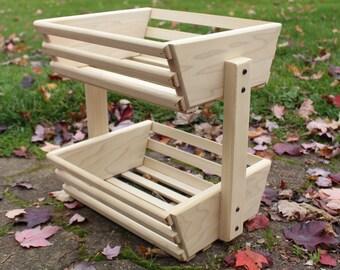 Wooden Basket, Storage Basket, Unfinished, Storage Crate, Market Basket, Fruit Storage, Vegetable Storage, Fruit Basket, Wood basket