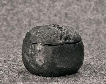Raku Unique Ceramic box, Stone Style