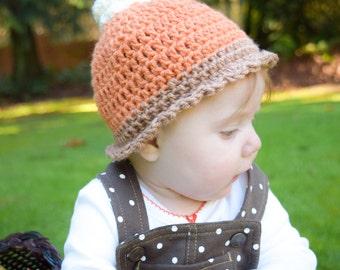 Baby Pumpkin Hat, Pumpkin Hat, Baby Pie Hat, Thanksgiving Baby Hat, Thanksgiving Hat, Christmas Baby Hat, Pumpkin Pie Hat, Fun Baby Hat