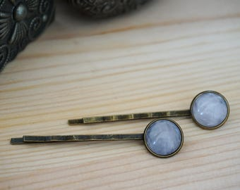 Rose quartz hair pins Rose quartz hair accessories Womens gift Bridal hair pins Rustic hair piece Pink Crystal Bobby pins Gem Stone hair pin
