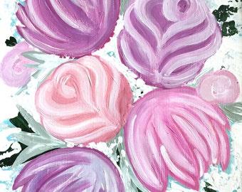 Pastel Spring Flowers Painting