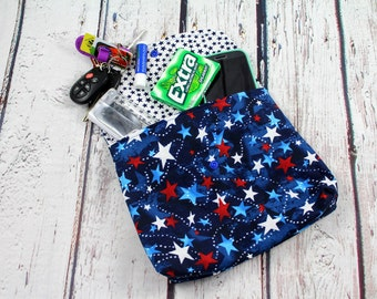 baby carrier pouch - baby carrier bag - USA stars baby carrier pocket - baby carrier accessories - baby wearing hip pouch - waistband pouch