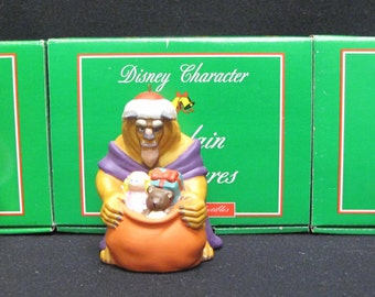 Set of 3 Grolier Ornaments SNOW WHITE, BEAST, Winnie The Pooh with Original Box