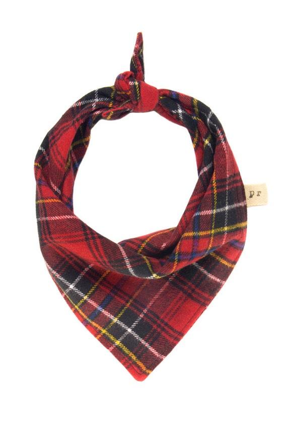 plaid scarf flannel puppy bandana tartan pet