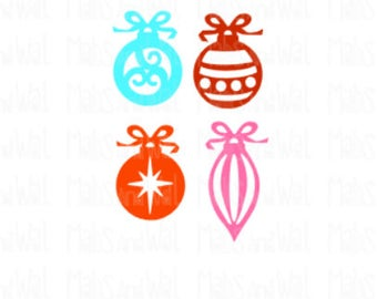 Christmas ornament svg/png/dxf cricut/silhouette digital download cutting file/Xmas decoration svg/holiday svg/papercraft/scrapbook/no zip