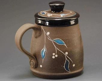 Pottery mug, mug, coffee mug, handmade ceramic mug, pottery coffee mug, coffee mug handmade, black mug, brown mug, tea cup