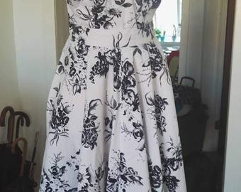 1950s 2 piece summer top + skirt set - price reduced!