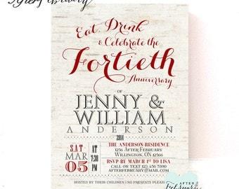 Surprise 40th Anniversary Invitation 40th Wedding