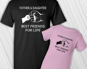 Father Daughter T Shirt Set | Fathers Day | Baby's First Christmas | New Baby | New Dad | Baby Shower | Gift | Daddy Daughter | Best Friends