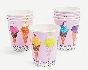 I love Ice Cream Party  Cups / sprinkles cups  / Ice cream cups /Ice Cream /
