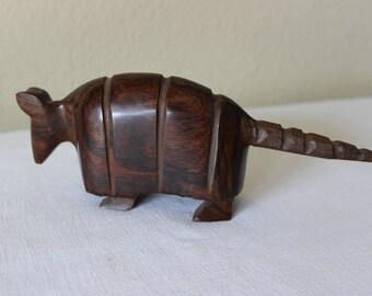 Ironwood Armadillo, Carved Ironwood Armadillo, Ironwood Animal Carving