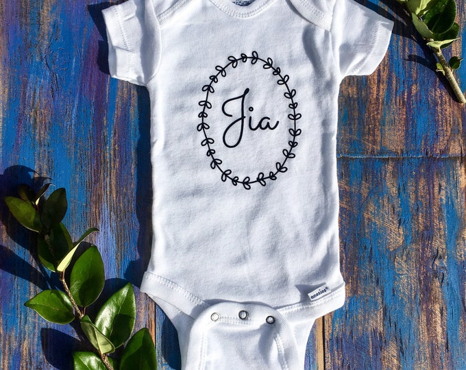 Monogram Onesies, Custom Name Onesie