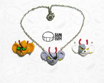 Biker Mice from Mars Necklace