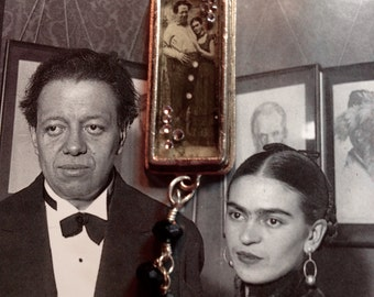 Frida and Diego Embrace Necklace