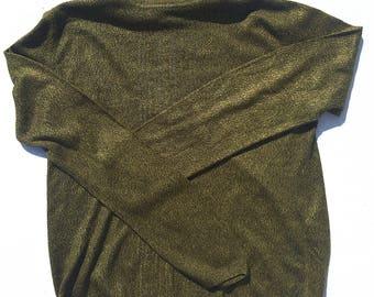 ANNEX Vintage Green/YLW Soft Turtleneck sz M
