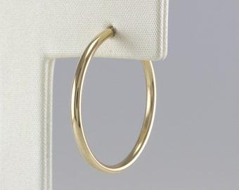2cm Gold Hoop Earrings 14K small, Gold Square Earrings, 14K Minimalist Earrings, 14K Geometric Earrings, 14K Simple Hoop Earrings,