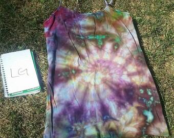 Free shipping. Large purple tie dye spaghetti strap tank top