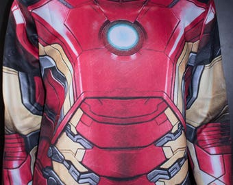 NEW! TAFI Iron Man Shirt - 2017 Marvel Comics Custom Design Tony Stark Super Hero Costume CosPlay Print