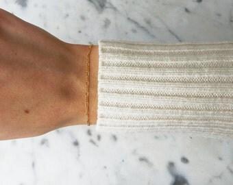 14K Gold-Filled Delicate Figaro Chain Bracelet