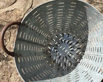Industrial Zinc Olive Garden Basket