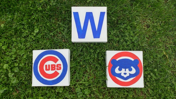 Chicago Cubs Wall Art 3 pieces