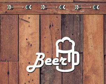 Beer Decal | Yeti Decal | Yeti Sticker | Tumbler Decal | Car Decal | Vinyl Decal