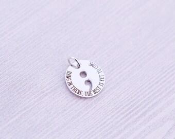 Semicolon Project Charms - Semicolon Butterfly - Stocking Stuffer - Semicolon Project - Semicolon Charm - Semicolon Jewelry