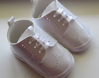 Baptism Christening Wedding Gown Baby Boy Pram Shoes Faux leather Soft Shoes