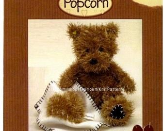 Baby Popcorn Bear Toy Knitting Pattern Classic Teddy Bear Toy Knitting Pattern Baby Stuffed Toy Pattern Instant download PDF Pattern - 2179