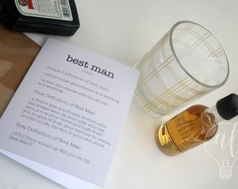 Will you be my Best Man Card - Be my best man - funny card - best man proposal - funny best man card - wedding cards -wedding party invite