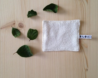Exfoliating pad in hemp and bamboo (1 piece)