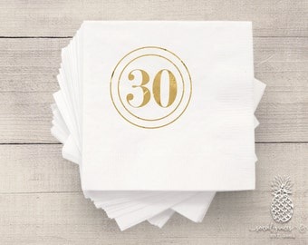 Birthday Party Napkins | Personalized Napkin | 30th Birthday Napkins