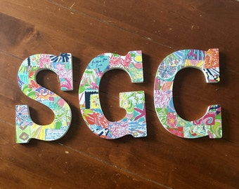 Lilly Pulitzer Printed Wooden Letters
