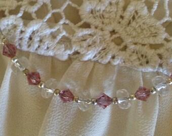 Lavender floating necklace
