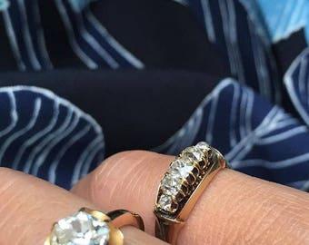 Victorian Five Diamond Old Mine Cut Ring