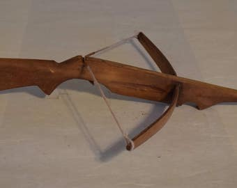 Cross Bow Akha Tribe Laos Southeast Asia Wood Handmade