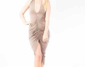 Taupe vv dress
