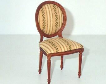 1:12 Scale Miniature Dollhouse Hepplewhite Side Chair