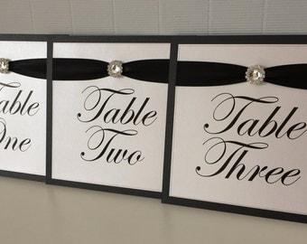 Diamante Circle Embellishment | Ribbon | Wedding Table Names/Numbers